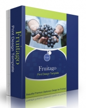 Fruitago Print Design Template Graphic with Personal Use Rights