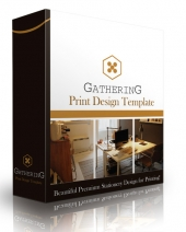 Gathering Print Design Template eBook with Personal Use Rights