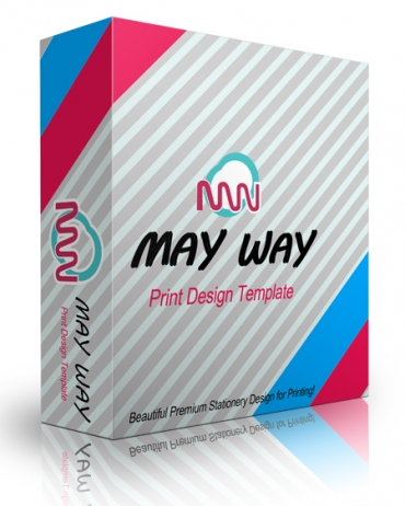 May Way Print Design Template