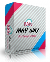 May Way Print Design Template Template with Personal Use Rights