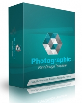 Photographic Print Design Template Graphic with Personal Use Rights