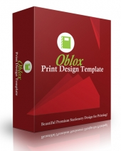 Oblox Print Design Template eBook with Personal Use Rights