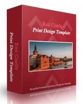 Red Castle Print Design Template eBook with Personal Use Rights