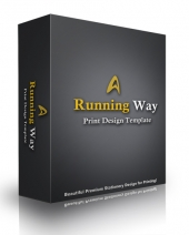 Running Way Print Design Template eBook with Personal Use Rights