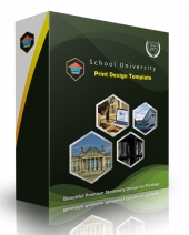 School Print Design Template eBook with Personal Use Rights
