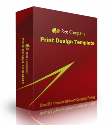 Red Company Print Design Template