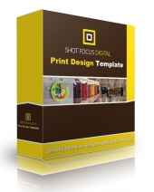 Shot Focus Print Design Template Graphic with Personal Use Rights