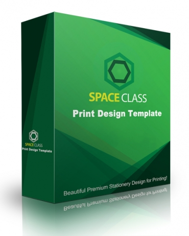 Space Class Print Design Template
