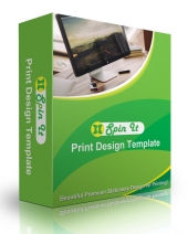 Spin It Print Design Template Graphic with Personal Use Rights