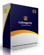 Galunggung Print Design Template eBook with Personal Use Rights
