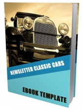 Classic Cars Ebook Template eBook with Private Label Rights