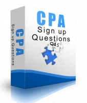 CPA Signup Questions eBook with private label rights