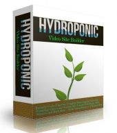 Hydroponics Video Site Builder Software with Master Resell Rights/Giveaway Rights