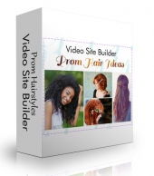 Prom Hairstyles Video Site Builder Software with Master Resell Rights/Giveaway Rights