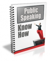 Public Speaking Know How Gold Article with private label rights