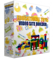 Educational Toys Video Site Builder Software with Master Resell Rights/Giveaway Rights