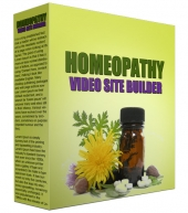 Homeopathy Video Site Builder Software with Master Resell Rights/Giveaway Rights