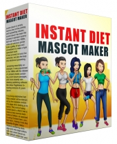 Instant Diet Mascot Maker Graphic with Personal Use Rights