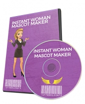 Instant Woman Mascot Maker Graphic with Personal Use Rights