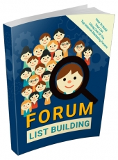 Forum List Building eBook with private label rights