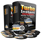 Turbo Instant Niche Templates Pro Software with Personal Use Rights