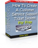 Customer Service Support Ticket System For Free eBook with Resell Rights