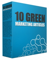 10 Green Marketing Content Articles Gold Article with private label rights