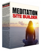 Meditation Video Site Builder Software with Master Resell Rights/Giveaway Rights
