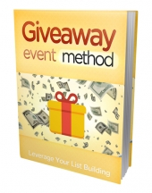 Giveaway Event Method eBook with private label rights