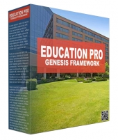 Education Pro Genesis Framework WordPress Theme Template with Personal Use Rights/Developers Rights