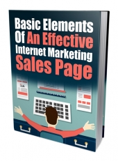 Basic Elements of an Effective IM Sales Page eBook with private label rights