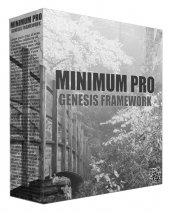 Minimum Pro Genesis Framework WordPress Theme Graphic with Personal Use Rights/Developers Rights