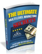 Ultimate Multi Level Marketing Secrets eBook with Resell Rights Only