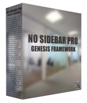 No Sidebar Pro Genesis Framework WordPress Theme Template with Personal Use Rights/Developers Rights