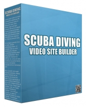 Scuba Diving Video Site Builder Software with Master Resell Rights/Giveaway Rights