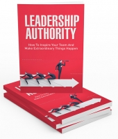 Leadership Authority eBook with private label rights