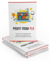 Profit From PLR eBook with Private Label Rights/Master Resell Rights