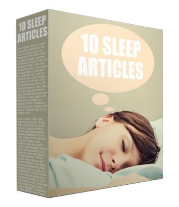 10 Sleep PLR Article Page 2017
