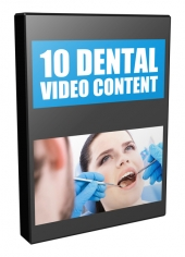 10 Dental Video Content Video with Private Label Rights/Giveaway Rights