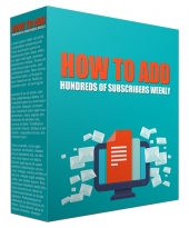 How to Add Hundreds of Subscribers Weekly Video with Resell Rights/Giveaway Rights