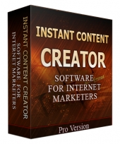 Instant Content Creator Software with Private Label Rights