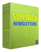 Sore Back PLR Newsletters Gold Article with Private Label Rights