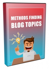 Methods for Finding Blogging Ideas Video with Resell Rights/Giveaway Rights