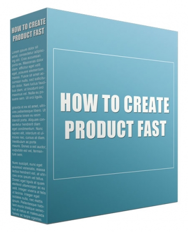 How to Create Product Fast