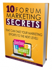 Forum Marketing Mastery 101 eBook with Master Resell Rights Only