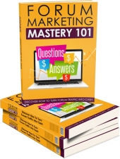 Forum Marketing Mastery 101 - Upsell eBook with Master Resell Rights Only