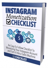 Instagram Monetization Checklist eBook with Master Resell Rights Only