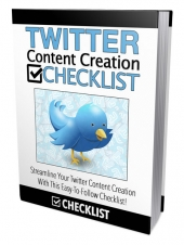 Twitter Content Creation Checklist eBook with Master Resell Rights Only