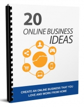 20 Online Business Ideas eBook with Master Resell Rights/Giveaway Rights