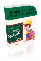 Home Schooling Video Site Builder Software with private label rights